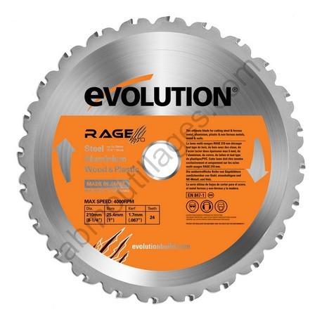 Evolution lame multi-usages RAGE 210mm