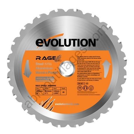 Evolution lame multi-usages RAGE 230mm