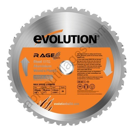 Evolution lame multi-usages RAGE 255mm
