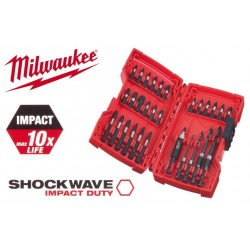 Milwaukee Coffret 30 Embouts de vissage shockwave