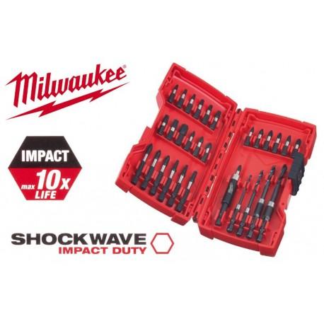 Milwaukee Coffret 30 Embouts de vissage shockwave