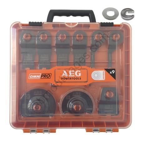 AEG Set 11 accessoires universelle lames, abrasifs