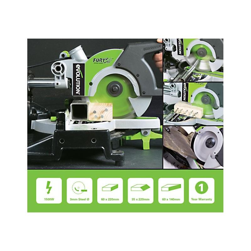evolution project scie onglet radial multi usage fury3 tct de 210 mm. Black Bedroom Furniture Sets. Home Design Ideas