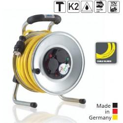 HEDI Enrouleur Primus en acier avec câble blindé 1.5