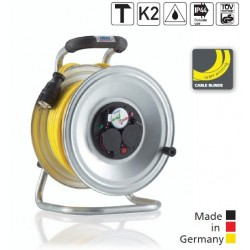 HEDI Enrouleur Professional en acier avec câble blindé 1.5
