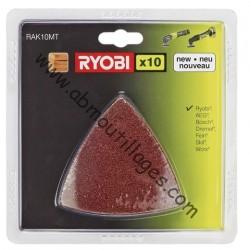 Ryobi kit abrasif 10 pcs multitool-5132002600