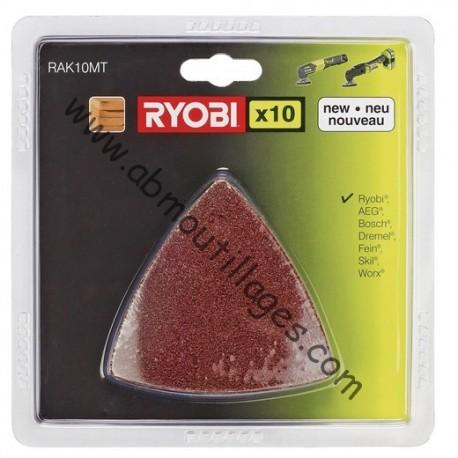 Ryobi kit abrasif 10 pièces multitool-5132002600