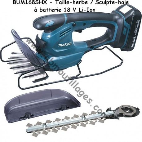 Makita taille herbe BUM168SHX Taille-herbe 18 V Li-ion 1,3 Ah
