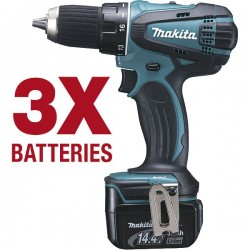MAKITA perceuse / visseuse sans fil BDF446RF3J 14,4 V Li-Ion 3 Ah Ø 13 mm