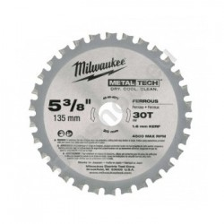 Milwaukee lames de scies 30 dents 135mm