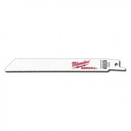 Milwaukee lame de scie sabre pour métal 0.5 - 3 mm de 150 mm