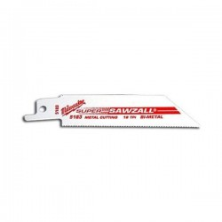 Milwaukee lame de scie sabre pour métal 1.5 - 4 mm de 100 mm