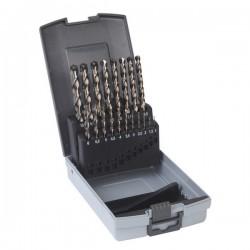 Milwaukee Coffret métal 25 forets à métaux cobalt HSS-Co DIN 338