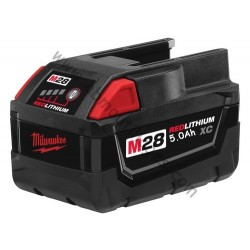 Milwaukee batterie M28 B5- 28V / 5.0Ah Li-Ion