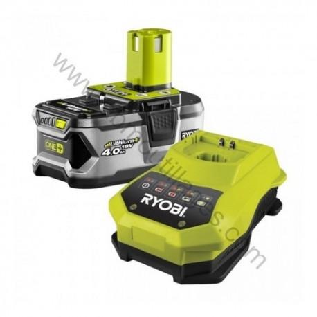 RYOBI RBC18L40G 1 batteries Lithium-Ion 18 V (4,0 Ah) + super chargeur