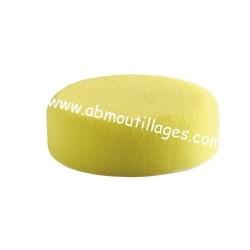 Eponge à polir auto-agripant dur jaune