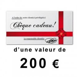 Chéque cadeau outillage de 200€